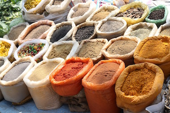 Spices, including turmeric, black pepper,