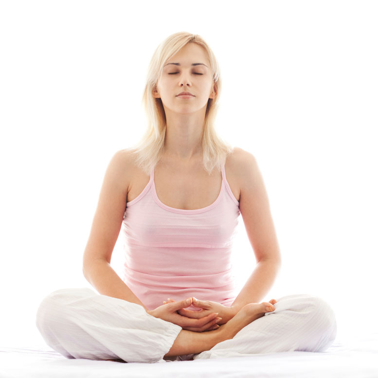 Girl Meditating - Seated Cross-Legged